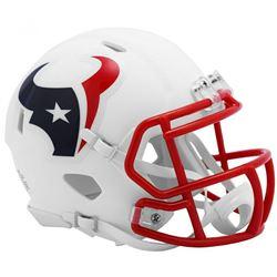 Texans Matte White Speed Mini Helmet