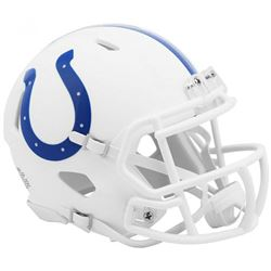 Colts Matte White Speed Mini Helmet