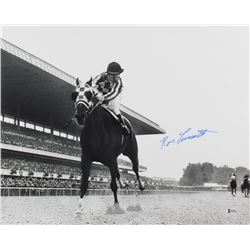 Ron Turcotte Signed 16x20 Photo with Secretariat (Beckett COA)