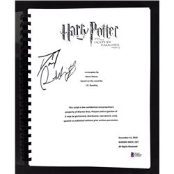 "Daniel Radcliffe Signed ""Harry Potter and the Deathly Hallows Part 2"" Movie Script (Beckett COA)"