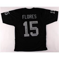 Tom Flores Signed Jersey with Multiple Inscription (PSA COA)