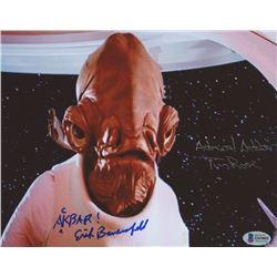 "Erik Bauersfeld  Tim Rose Signed ""Star Wars: Episode VI – Return of the Jedi"" 8x10 Photo Inscribed"