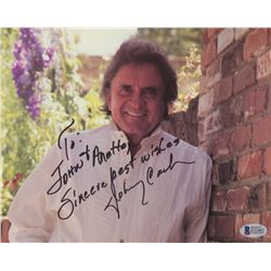 """Johnny Cash Signed 8x10 Photo Inscribed """"Sincere Best Wishes!"""" (Beckett COA)"""