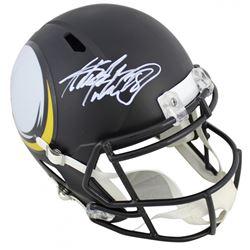 Adrian Peterson Signed Vikings Full-Size AMP Alternate Speed Helmet (Beckett COA)