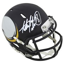Adrian Peterson Signed Vikings AMP Alternate Speed Mini-Helmet (Beckett COA)