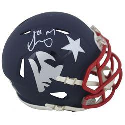 Sony Michel Signed Patriots AMP Alternate Speed Mini-Helmet (Beckett COA)