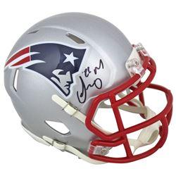 Sony Michel Signed Patriots Speed Mini-Helmet (Beckett COA)
