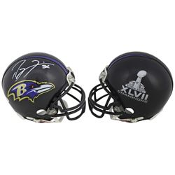 Ray Lewis Signed Ravens Super Bowl XLVII Mini-Helmet (Beckett COA)