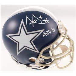 "Dak Prescott Signed Cowboys Full-Size Authentic On-Field Helmet Inscribed ""ROTY 16"" (JSA COA)"