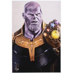 Tony Santiago - Thanos - The Avengers - Marvel Comics 13x19 Signed Lithograph (PA COA)