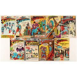 "Lot of (9) 1967-1975 ""Superman"" DC Comic Books"