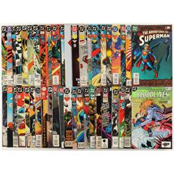 """Lot of (44) """"The Adventures of Superman"""" Action Comics DC Comic Books"""