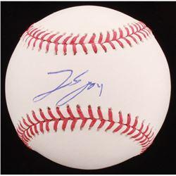 George Springer Signed OML Baseball (PSA COA)