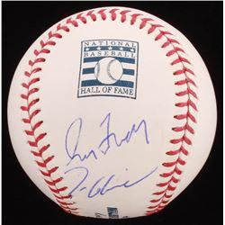 Greg Maddux  Tom Glavine Signed Hall of Fame Logo OML Baseball (PSA COA)