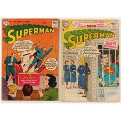 "Lot of (2) 1956-1957 ""Superman"" 1st Series Action Comics DC Comic Books"