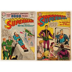 "Lot of (2) 1956 ""Superman"" 1st Series Action Comics DC Comic Books"