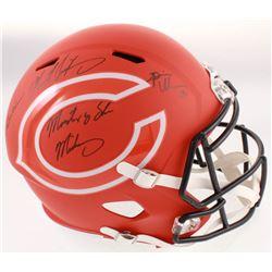 Dick Butkus, Mike Singletary  Brian Urlacher Signed Bears Full-Size AMP Alternate Speed Helmet Inscr