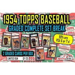 1954 PSA GRADED Topps Baseball Complete Set Break Mystery BOX – 2 Cards Per Box!