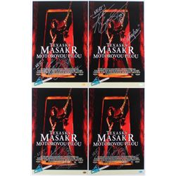 """Lot of (4) Andrew Bryniarski Signed """"The Texas Chainsaw Massacre"""" 11x17 Photos Inscribed """"Leatherfac"""