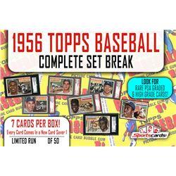 1956 Topps Baseball Complete Set Break Mystery BOX – 7 Cards Per Box!