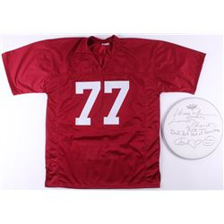 Lot of (2) Artimus Pyle Signed Career Highlight Jersey  Drum Head with Multiple Inscriptions (JSA CO
