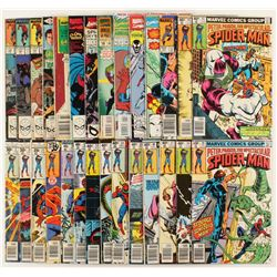 """Lot of (28) 1977-1989 """"The Spectacular Spider-Man"""" 1st Series Marvel Comic Books"""