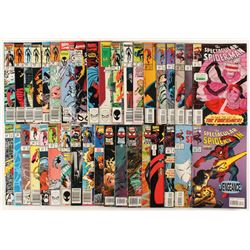 """Lot of (37) 1985-1997 """"The Spectacular Spider-Man"""" 1st Series Marvel Comic Books"""