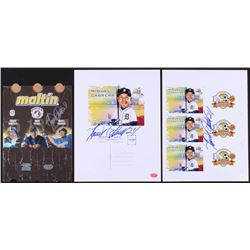 Lot of (3) Miguel Cabrera Signed 8x10 Photos  Maltin Beverage Carrier (Hollywood Collectibles COA)