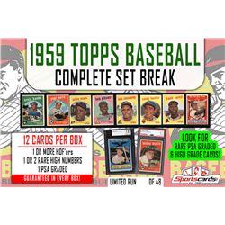 1959 Topps Baseball Complete Set Break Mystery BOX – 12 Cards Per Box!