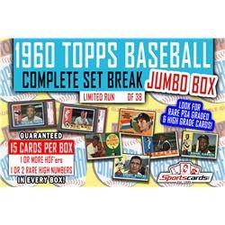 1960 Topps Baseball Complete Set Break JUMBO Mystery BOX – 15 Cards Per Box!