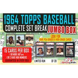 1964 Topps Baseball Complete Set Break JUMBO Mystery BOX – 15 Cards Per Box!