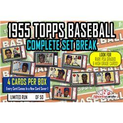 """1955 Topps Baseball Complete Set Break""  Mystery BOX – 4 Cards Per Box!"