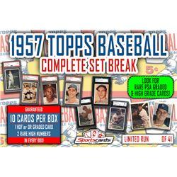 1957 Topps Baseball Complete Set Break Mystery BOX – 10 Cards Per Box!