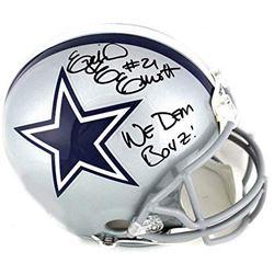 "Ezekiel Elliott Signed Dallas Cowboys Full-Size Authentic On-Field Helmet Inscribed ""We Dem Boyz!"" ("