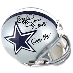 "Ezekiel Elliott Signed Dallas Cowboys Full-Size Authentic On-Field Helmet Inscribed ""Feed Me!"" (Beck"
