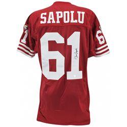 Jesse Sapolu Signed 49ers Jersey (Beckett COA)