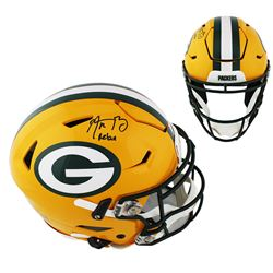 """Aaron Rodgers Signed Packers Full-Size Authentic On-Field SpeedFlex Helmet Inscribed """"Relax"""" (Fanati"""