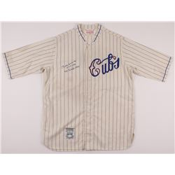 """Billy Herman Signed Cubs Jersey Inscribed """"H.O.F. 1975""""  """"NL Champs 1932"""" (JSA LOA)"""