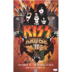 """Kiss """"Kiss Kruise II"""" 1x17 Poster Band-Signed by (4) with Gene Simmons, Paul Stanley, Eric Singer  T"""