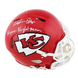 "Christian Okoye Signed Chiefs Full-Size Authentic On-Field Speed Helmet Inscribed ""Nigerian Nightmar"