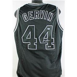 """George Gervin Signed Jersey Inscribed """"HOF 96"""" (PSA COA)"""