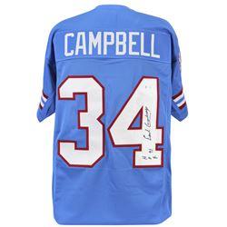"Earl Campbell Signed Jersey Inscribed ""HOF 91"" (Beckett COA)"