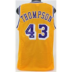 """Mychal Thompson Signed Jersey Inscribed """"2 Time NBA Champ"""" (Beckett COA)"""