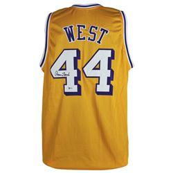 Jerry West Signed Jersey (Beckett COA)