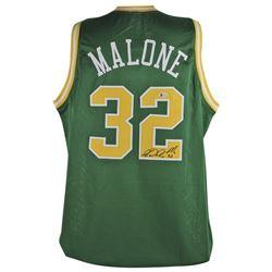 "Karl ""Mailman"" Malone Signed Jersey (Beckett COA)"