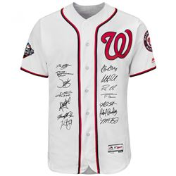 2019 Nationals LE Jersey Team-Signed by (14) with Howie Kendrick, Patrick Corbin, Max Scherzer, Dave