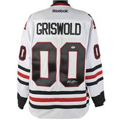 Chevy Chase Signed Blackhawks Jersey (PSA COA)