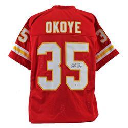 Christian Okoye Signed Jersey (Beckett COA)