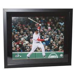 """J.D. Martinez Signed Red Sox """"Grand Slam"""" 20x24 Custom Framed Photo (Steiner COA)"""