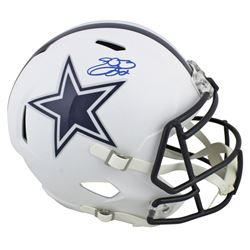 Emmitt Smith Signed Cowboys Full-Size Matte White Speed Helmet (Beckett COA  Prova COA)
